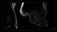 Triptyque (Henri Aubron) Tags: portrait noiretblanc lumire triptyque henri contrejour profil pensif aubron