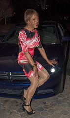 A Girl & A Car! (kaceycd) Tags: pumps highheels s tgirl stilettoheels pantyhose crossdress spandex lycra tg stilettos minidress sexypumps opentoepumps peeptoepumps anklestrappumps