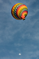 Moonshot (A Different Perspective) Tags: newzealand wairarapa air balloon blue fiesta hot morning rainbow sky yellow