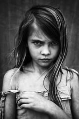 Linn (.Betina.) Tags: portrait blackandwhite girl mood child hand betinalaplante