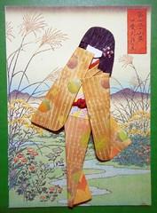 ATC1313 - Field flowers (tengds) Tags: flowers brown green field atc artisttradingcard asian japanese card geisha kimono obi origamipaper artcard papercraft japanesepaper ningyo handmadecard chiyogami asiandoll japanesewoodblockprint japanesepaperdoll origamidoll kimonodoll nailartsticker tengds