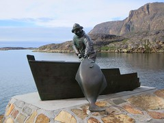 Statue of a Fisherman (D-Stanley) Tags: fisherman greenland sisimiut