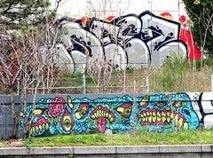 Philly 2016 Schuylkill River Graffiti Art (wheeltoyz) Tags: street city art philadelphia cheese river liberty graffiti hall strawberry bell pennsylvania south rocky pa pretzels philly mansion norristown steaks mantua schuylkill