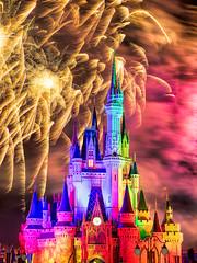 Wishes Night Time Spectacular at Magic Kingdom, Walt Disney World, Orlando. (gags9999) Tags: usa castle colors night spectacular orlando florida fireworks disney wishes cinderella wdw waltdisneyworld
