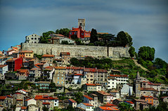 Motovun, Croatia - City walls and tower of the Church of St. Stephen (David Pirmann) Tags: tower church croatia walls fortifications hilltop istria motovun