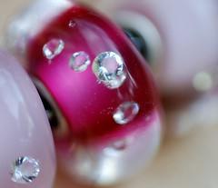 Trollbeads 'diamond' bead. (Athanassia) Tags: glass armband silver charm bracelet bead glas kraal zilver trollbeads bedel tollbeads