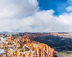 Bryce Canyon 13 (MarcCooper_1950) Tags: trees red sky orange snow colors clouds landscape utah nikon scenery rocks vivid canyon cliffs hills southern boulders hoodoo bryce rainfall hdr formations lightroom mounatins brycecanyonnationalpark geologic d810 marccooper
