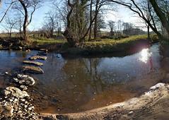 Crimple Beck Stepping Stones (deadmanjones) Tags: sunset sunlight reflections steppingstones crimplebeck rivercrimple