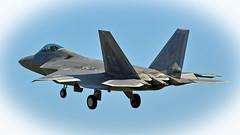 F22 Landing at RAF Lakenheath (Tom Xyloto) Tags: fighter force aircraft aviation air jets jet raptor planes april stealth f22 5th base generation raptors raf tyndall 2016 lakenheath