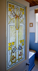 Victorian stained glass bathroom window (RDW Glass) Tags: door window glass bathroom glasgow victorian stainedglass artnouveau screenprinted rdwglass