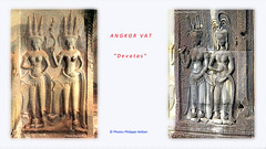 IMG_1021 1014  Angkor Vat  Devatas  Angkor Vat  (philippedaniele) Tags: statues sculptures grs apsaras bouddhisme jayavarman devatas divinits hinddouisme