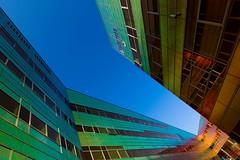 _DSC2227 (durr-architect) Tags: light sun colour reflection netherlands glass architecture modern facade offices almere dfense berkel unstudio