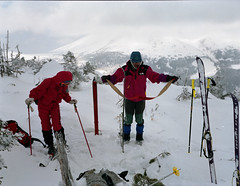 Ready ? (threepinner) Tags: winter snow ski iso100 skiing negative   fujica 75mm  gs645  f34 ebcfujinon mountainsnaps genshigahara  taisetsunationalpark mttouyausube  mtmaefurano