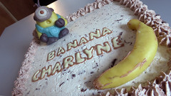 Gteau Minion (Claire Coopmans) Tags: birthday cake belgium belgique chocolate chocolat mousse chantilly minions ptisserie minion massepain