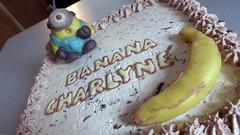 Gâteau Minion (Claire Coopmans) Tags: birthday cake belgium belgique chocolate chocolat mousse chantilly minions pâtisserie minion massepain