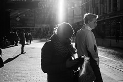 Street portraits (HKI DRFTR) Tags: portrait people urban blackandwhite sunlight sunshine contrast vintage finland lens helsinki scenery eveningsun streetphotography surreal harsh hexanon 40mm18 lensflaring