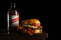 A Daq's Burger and Beer (Studio d'Xavier) Tags: stilllife food beer burger sandwich hamburger strobist werehere imnotaddictedtoburgers