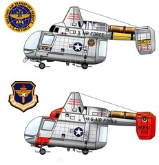 HH-43B Huskie (Ricos 2015) Tags: airplane military helicopters kaman huskie h43