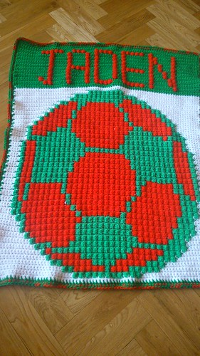 Portugal colours football blanket for Jaden