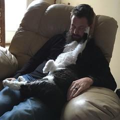 Joey & Cina Lovin' (ShanMcG213) Tags: cats cat joey cina blackandwhitecat whiteandblackcat