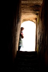 Ethereal (c j shridhar photography) Tags: light portrait woman india lady stairs ruins indian steps entrance tamilnadu gingee gingeefort senji flickrsbest