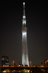 DSC_1621 (Zengame) Tags: tower japan architecture tokyo nikon df illumination landmark illuminated jp   nikkor    skytree   tokyoskytree  newyearsspecial afs58mmf14g afsnikkor58mmf14g