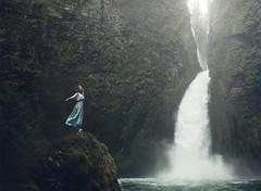 """Countercascade"" (David Talley) Tags: oregon portland waterfall dress peterpan columbia pacificnorthwest gorge wendy pnw columbiarivergorge"