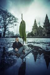 Raft 5 (Glesgaloon) Tags: portrait photoshop flood aberdeen trickphotography selfie