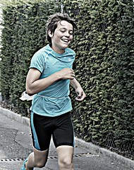 Happy - edit (Cavabienmerci) Tags: boy sports boys sport kids race children schweiz switzerland kid  child suisse running run course runners sur pied runner triathlon vevey laufen lufer lauf corseaux 2013