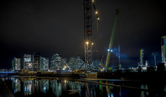 Under Construction 2 (cpphotofinish) Tags: ocean blue autumn light sky urban panorama color colour reflection fall water weather yellow oslo norway night clouds canon outside eos bay norge photo reflex opera foto nightshot image outdoor mark tourist panoramic norwegian nightlight fjord nordic usm dslr scandinavia bilder vann oslofjord bluelight kaia oslofjorden høst bilde norske farger mk3 turist osloharbour canonef ef24105mmf4lisusm visitnorway oslooperahouse havnelageret carstenpedersen canonmkiii mklll oslohavnelager eos5dmk3 oslobay cpphotofinish canonredlable dslroslofjordfjord