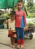 spiderman and his friend (the foreign photographer - ฝรั่งถ่) Tags: two boys portraits canon thailand kiss bangkok spiderman suit khlong bangkhen thanon 400d
