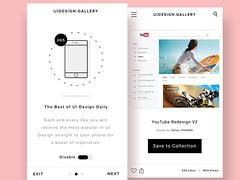 UI Design Gallery - Mobile Screens (ijstheedribbble) Tags: inspiration apple design tv graphic screensaver popular dribbble iftt