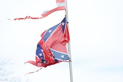 Seen Better Days... (hennessy.barb) Tags: old flag confederate worn tattered confederateflag
