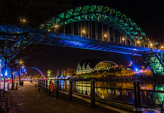 Tyne Bridge Trees. (Explored) (Splendid What) Tags: christmas night lights december millenniumbridge tynebridge quayside rivertyne thesage 2015 thebaltic gatesheadquays newcastlegateshead