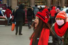 Funny Moment (katushang) Tags: china street city winter red people urban woman color heilongjiang river daylight nikon colorful hiking siberia dslr potrait fareast citizen   harbin helios dx haerbin helios402   russianlens streetpotrait d5100 d5100 fxlensondxcamera fullframelensoncropsensor fxlensonadxcamera helios402n