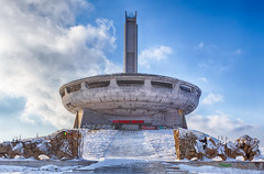 Outside Buzludzha (Julien Cornette) Tags: winter hiver ufo communism bulgarie congrs buzludzha bouzloudja