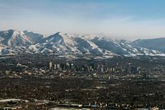 Salt Lake City Aerial (formulanone) Tags: city mountain mountains skyline utah saltlakecity slc birdseyeview windowseat outthewindow cityaerial
