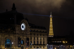 Eiffel Tower and Orsay Museum at night (rob.reed35) Tags: paris france night eiffeltower orsaymuseum
