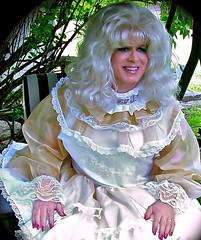 Blissful sissy (jensatin4242) Tags: ruffles sissy transvestite taffeta crossdresser frilly jensatin