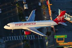 Virgin America Airbus A320-214 N838VA (Mark Harris photography) Tags: ca plane canon us aircraft aviation lax spotting