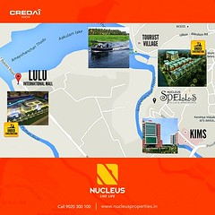 Live life unbound with Nucleus spells located in close vicinity to Lulu Mall which is in construction phase and near KIMS Hospital, Trivandrum! Call +91 9020 300 100.   #Kerala #Kochi #India #Trivandrum #Architecture #Home #Construction #City #Elegance #E (nucleusproperties) Tags: life city india building home nature beautiful beauty architecture design living construction realestate view apartment interior gorgeous lifestyle style atmosphere kerala villa environment elegant exquisite comfort luxury kochi trivandrum elegance