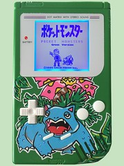 Pokemon Venusaur Gameboy Complete! (Pullipprincess) Tags: game anime character nintendo cartoon games videogames handheld pokemon custom gameboy venusaur
