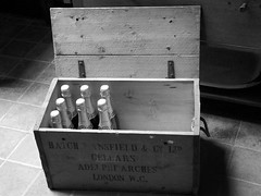 Vintage ... (Lanercost Photography) Tags: old blackandwhite classic vintage box champagne lifestyle style dust classy