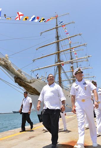 El Gobernador Javier Duarte asistió a la Recepción para las Tripulaciones de los Buques participantes en el Encuentro de Grandes Veleros Latinoamérica 2014