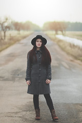 Radina (Vladimir Ivanov Photography) Tags: road red portrait sun girl canon vintage hair path retro bulgaria 18 85 flair stylish 70d