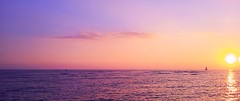 Bliss (Mark C of Syd) Tags: light sunset seascape colour water beautiful yacht tranquil