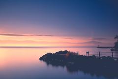 Glow & Rise (Maximecreative) Tags: longexposure winter light mist lake mountains alps sunrise canon switzerland rocks glow pastel jetty silhouettes leman f4 24105mm leefilters canon6d bigstopper nd06hardgrad sw150