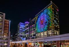 Fuji TV building (Aresio) Tags: building architecture tokyo fuji odaiba lightshow fujitv