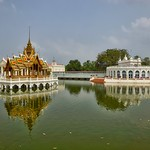 Phra Thinang Aisawan Thiphya-Art and Tevaraj-Kanlai Gate at the Royal Palace in Bang Pa-In, Ayutthaya, Thailand thumbnail