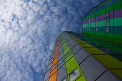 fluffy clouds over Essen (University) (jotka*26) Tags: berlin architecture clouds reflections germany essen university colours catchycolours angle architektur architectura upshot architektuur jotka26 archdaily fluffycloudsoveressen